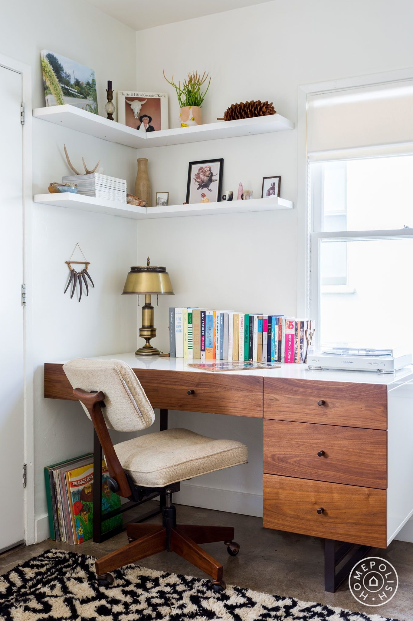 48 small space ideas for home office modern home office on smart corner home office ideas id=91473
