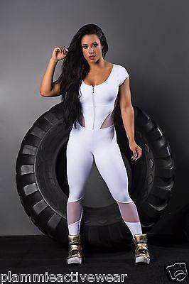 Brazilian Fitness Sexy Jumpsuit Fitness Gym Woman Macacão One Piece