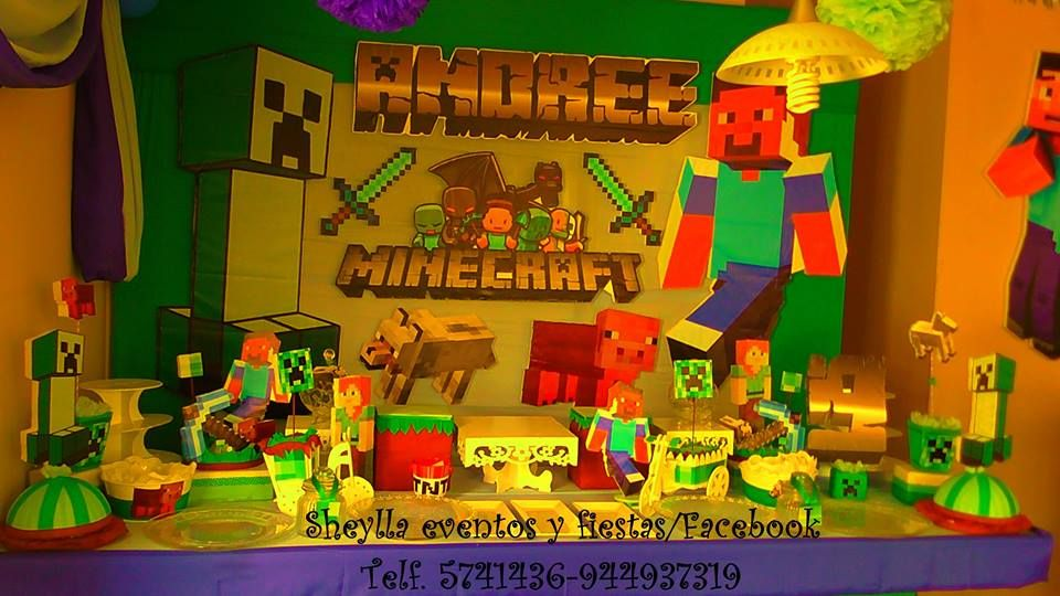 Decoraci n minecraft sheylla eventos y fiestas facebook for Decoracion hogar lima peru