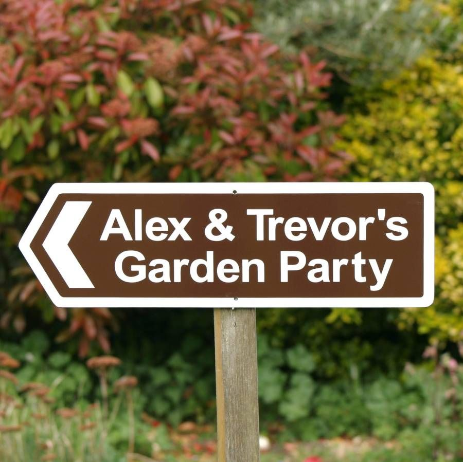 England Signs Personalised Garden Party Sign | Party | Pinterest ...
