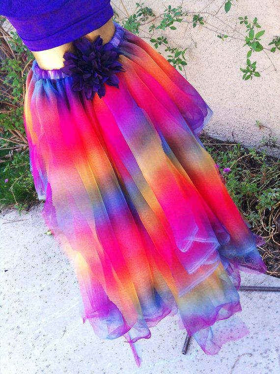 Adult Tutu Dance Ombre Skirt Rainbow By TutuHot 8800