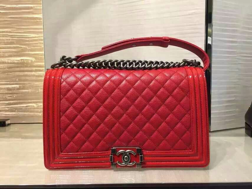 Chanel Red Boy | Chanel's Accessories | Pinterest | Chanel boy bag ... : red quilted chanel bag - Adamdwight.com