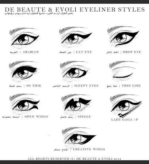 eyeliner styles...lol @ lady gaga
