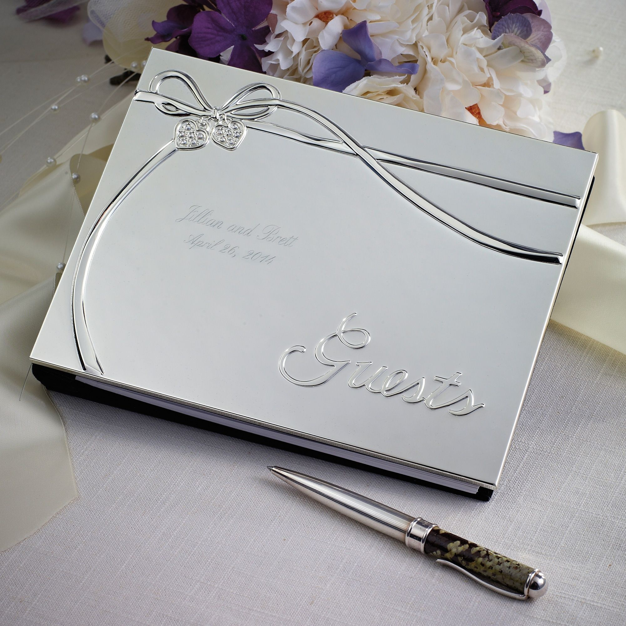 Lenox Romance Wedding Guest Book | #exclusivelyweddings and if you ...