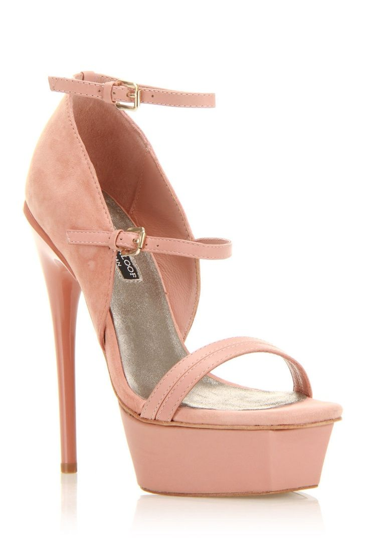 6a03114425d I would love these if the platform wasn t so high. Val High Heel Sandals In  Rose Leather