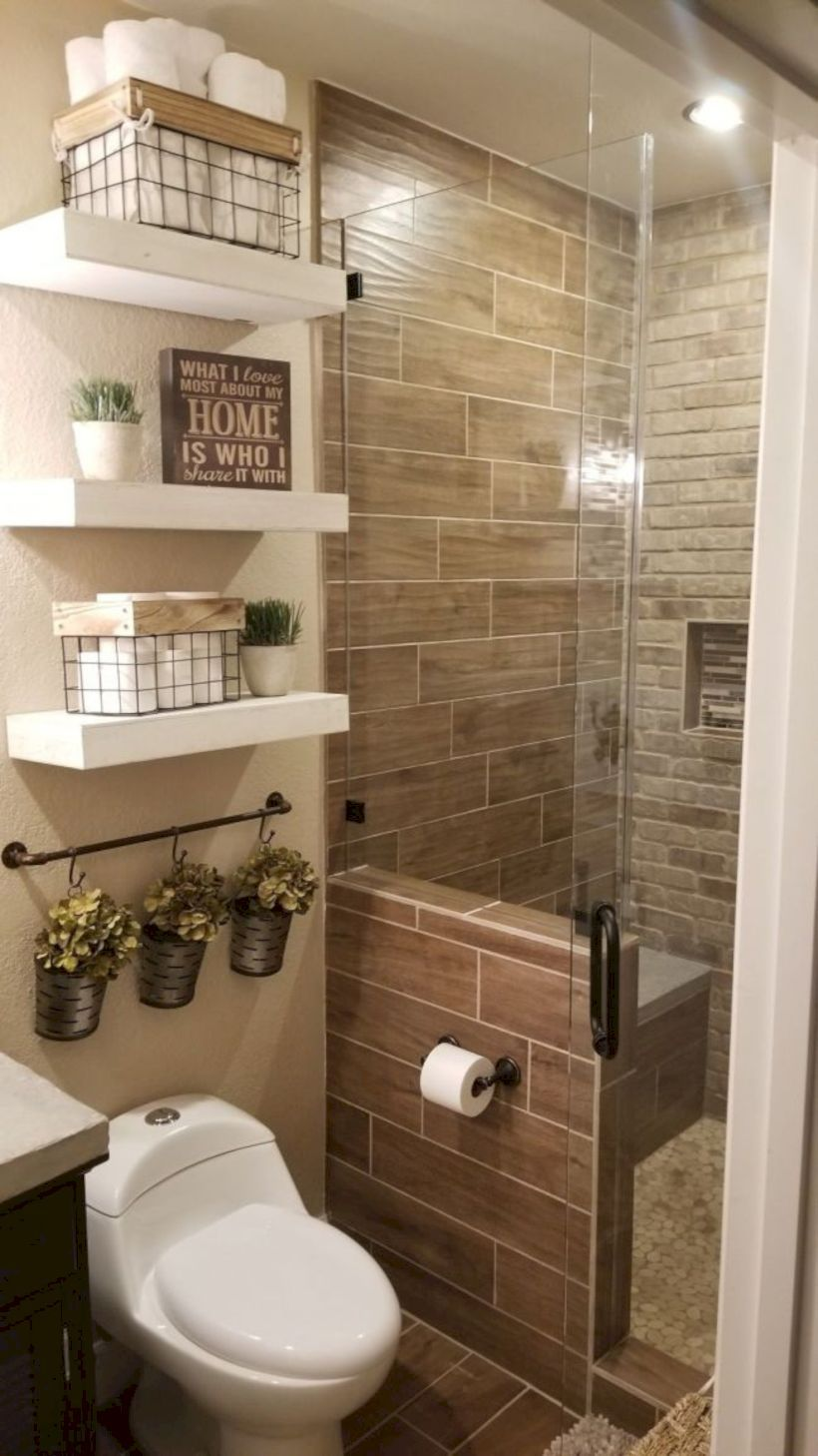 Nice 48 Delicate Bathroom Design Ideas For Small Apartment On A Budget More At Https Decoratrend Com Small Bathroom Remodel Bathrooms Remodel Small Bathroom