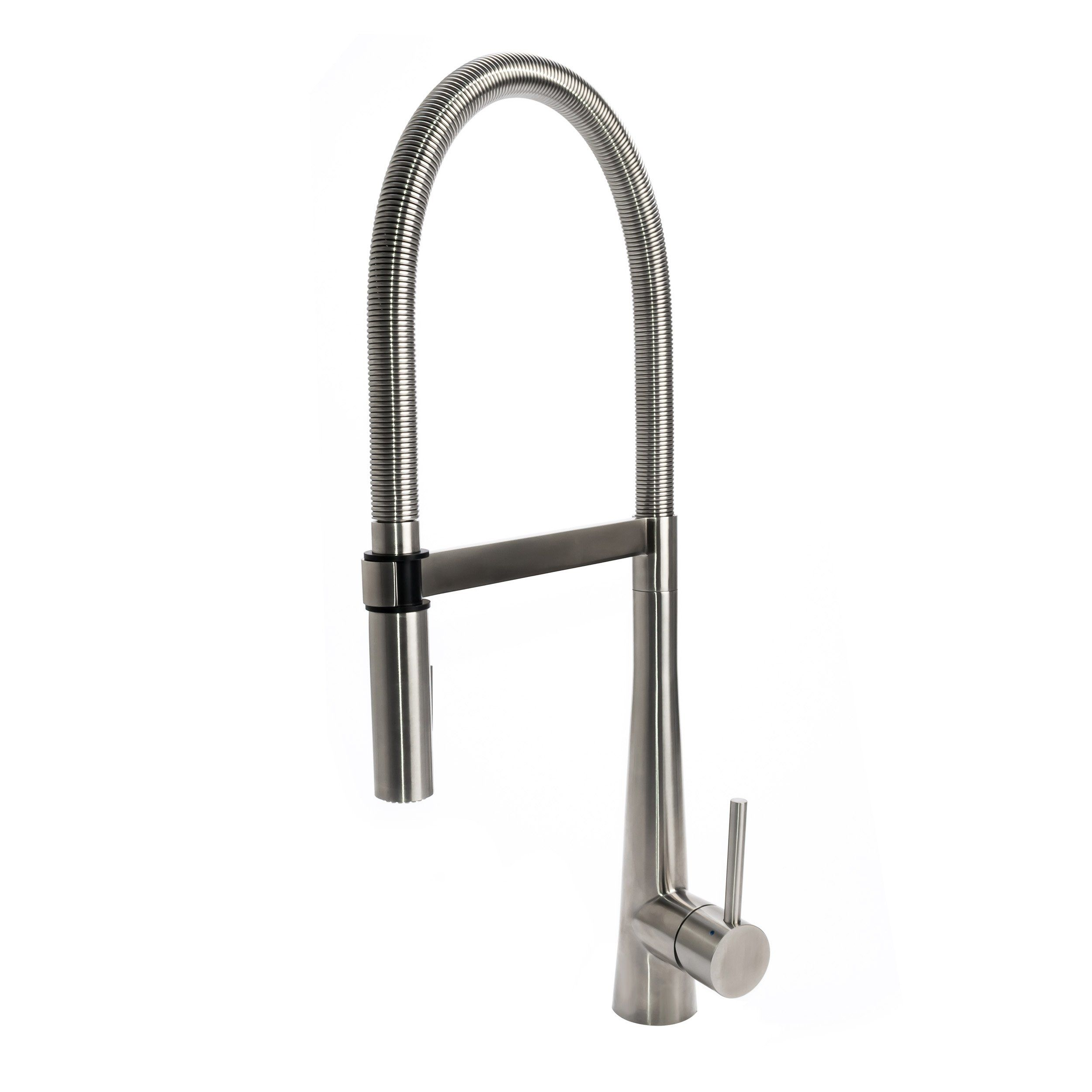 Buy Solid Stainless Steel Luxury Gourmet Spring Coil Kitchen Faucet With  Metal Sprayer.