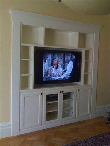 Entertainment Center Recessed In The Wall Clients Replaced An Old Cabinet That Did Not Match House Or Thei