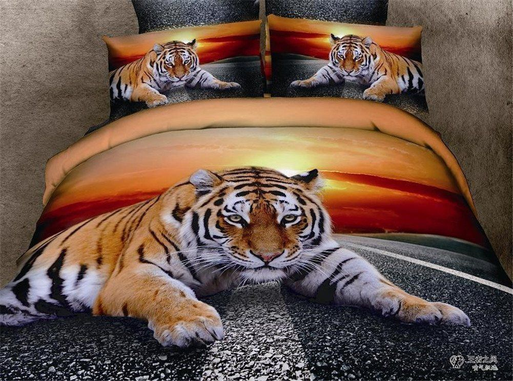 Best Tiger Animal Bedding Sets Animal Print Bedding Duvet Cover