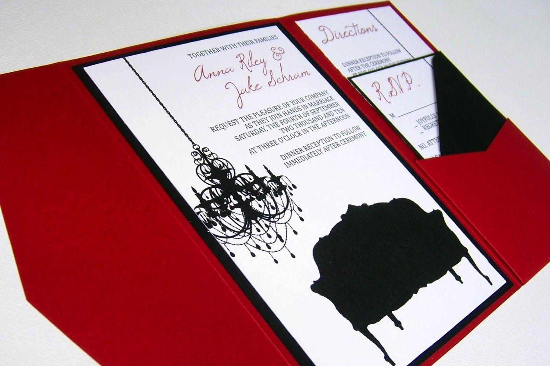 budgetweddingideasdiyinvitationsetsyweddingsredblackwhite – Red and White Wedding Invitations