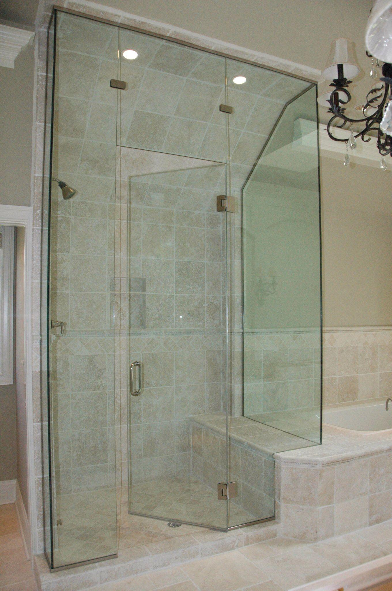 Frameless Clear Glass Shower Enclosure Bathroom Interior Glass Shower Enclosures Glass Shower