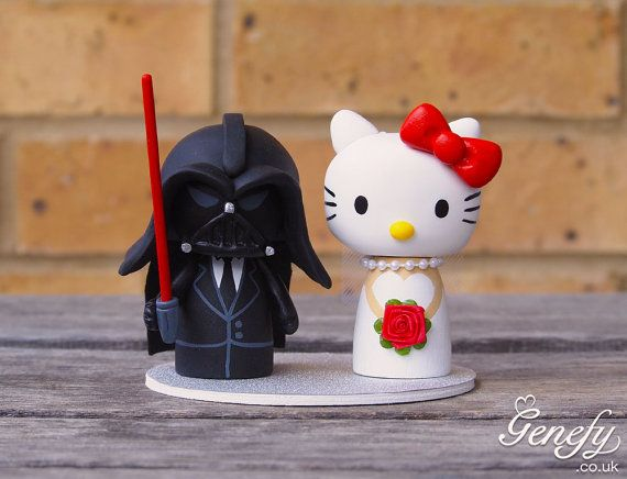 Cute Wedding Cake Topper Darth Groom And By GenefyPlayground GBP13800 Hello Kitty