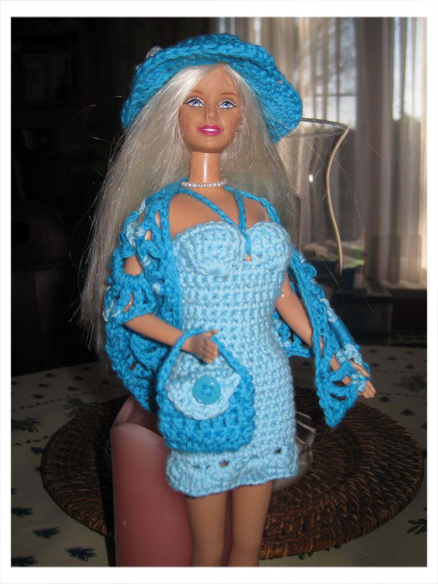 Gehaakt Barbie Kleedje Gratis Patroontje Gehaakte Barbie Kleding