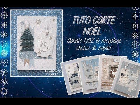 TUTO Carte de Noël ( Achats NOZ )   YouTube (avec images)   Carte