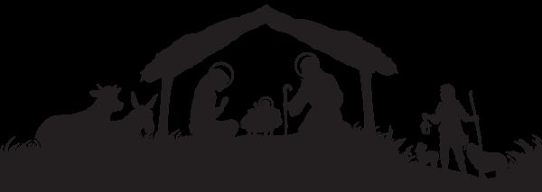 Christmas Nativity Scene Silhouette Png Clip Art Image Nativity Scene Silhouette Nativity Silhouette Nativity Scene Diy