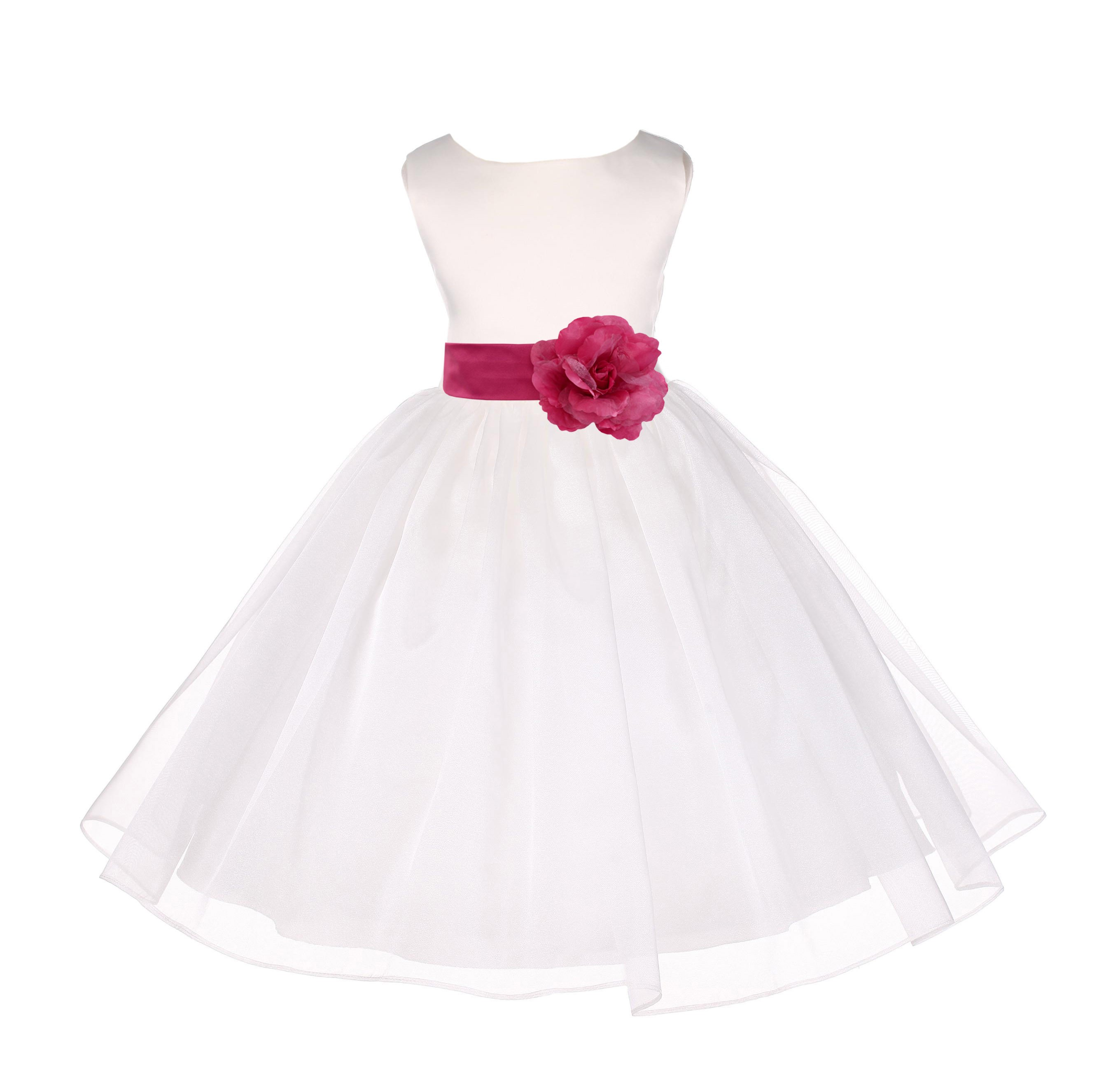 Ivory Organza Flower Girl Dress Receptions Wedding Bridal Beauty Pageant Special Occasions 841T