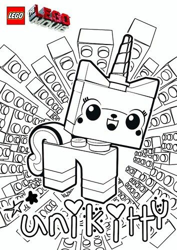 Unikitty coloring pages Pinterest Lego and Craft - copy coloring pages lego minifigures