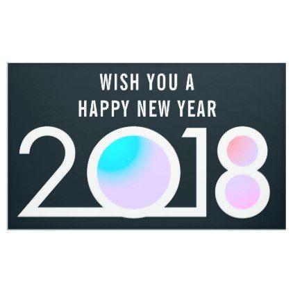 modern typography happy new year 2018 banner