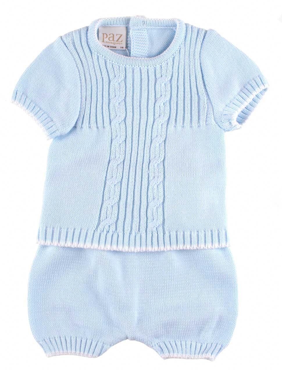 1f01b7902 Baby boy newborn summer suit. Babypakje lichtblauw.