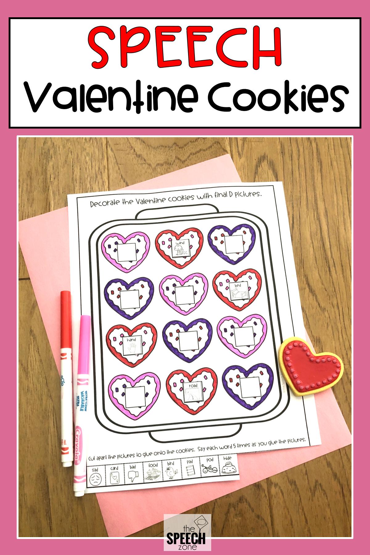 Articulation Valentine Cookies