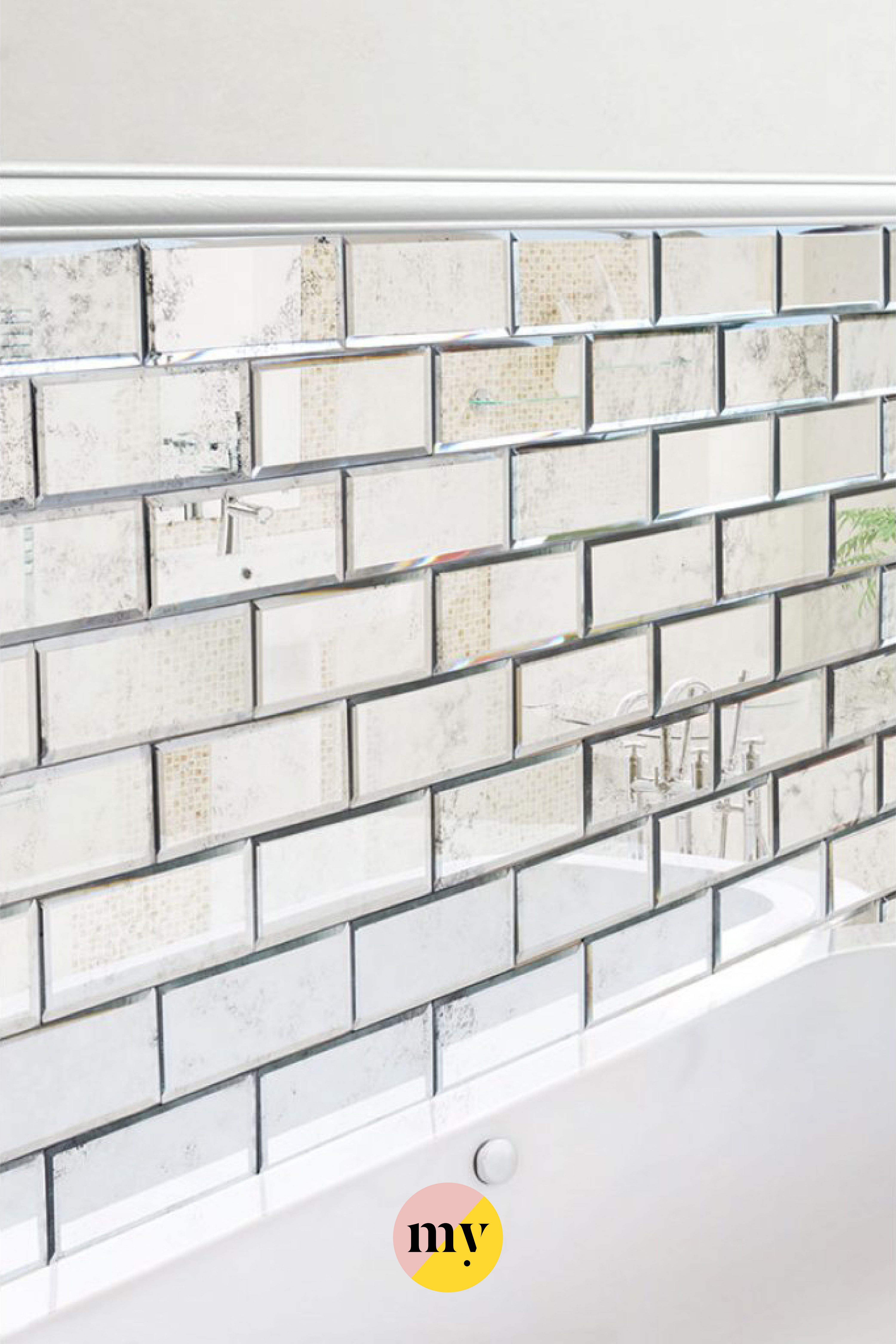 Antique Mirrored Bevelled Wall Tiles | Antique mirror ...