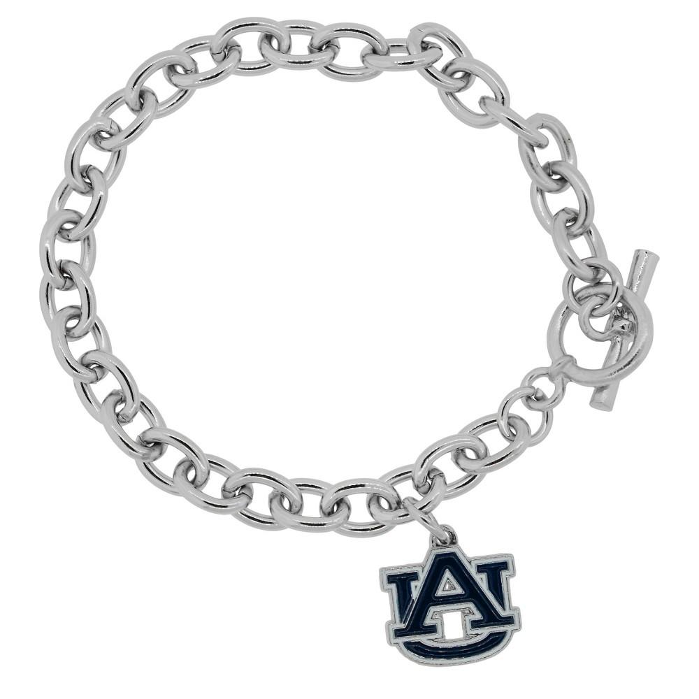 Women's Ncaa Base Metal Sports Team Logo Charm Bracelet  Auburn (8),