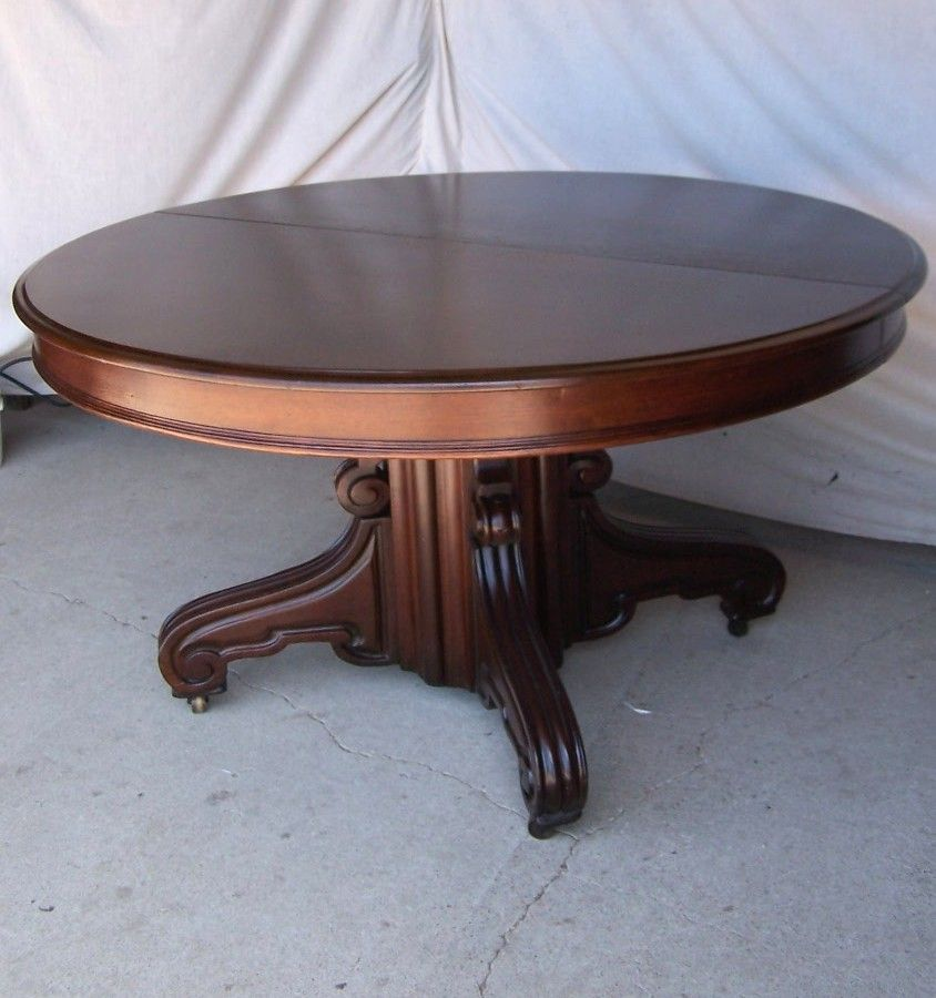 Victorian Era Dining Room: Victorian Round Walnut Pedestal Dining Table In 2019