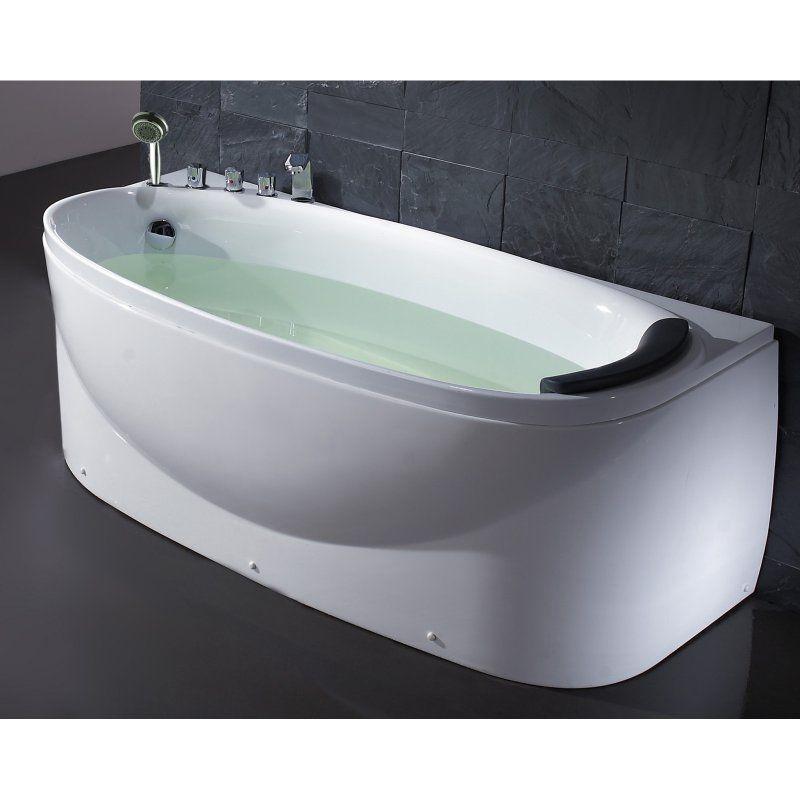 Eago lk1104l 72 in left drain soaking tub