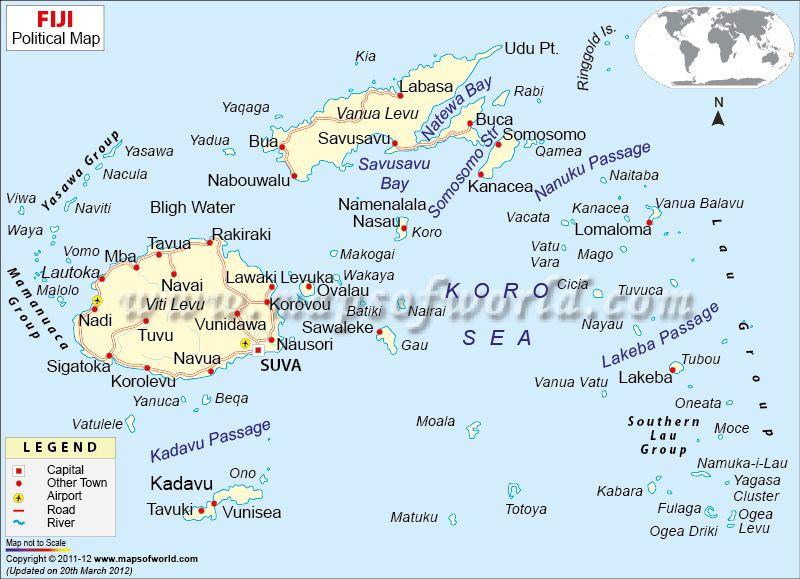 Fiji map mow pinterest fiji and fiji islands fiji map sciox Images