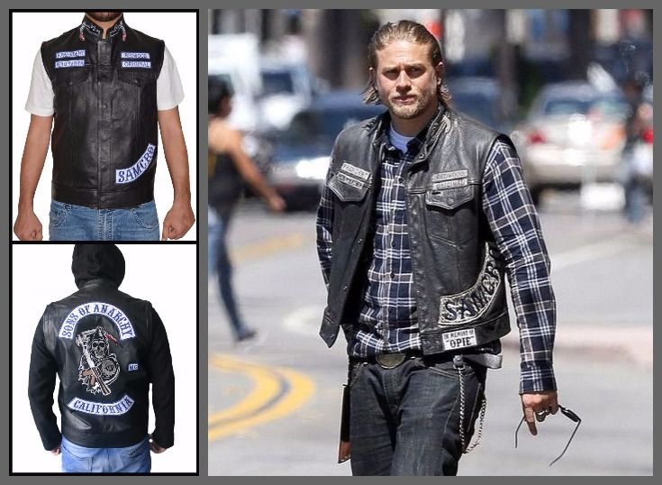 Charlie Hunnam Sons Of Anarchy Jax Teller Vest Top Celebs Jackets Charlie Hunnam Sons Of Anarchy Jax Teller