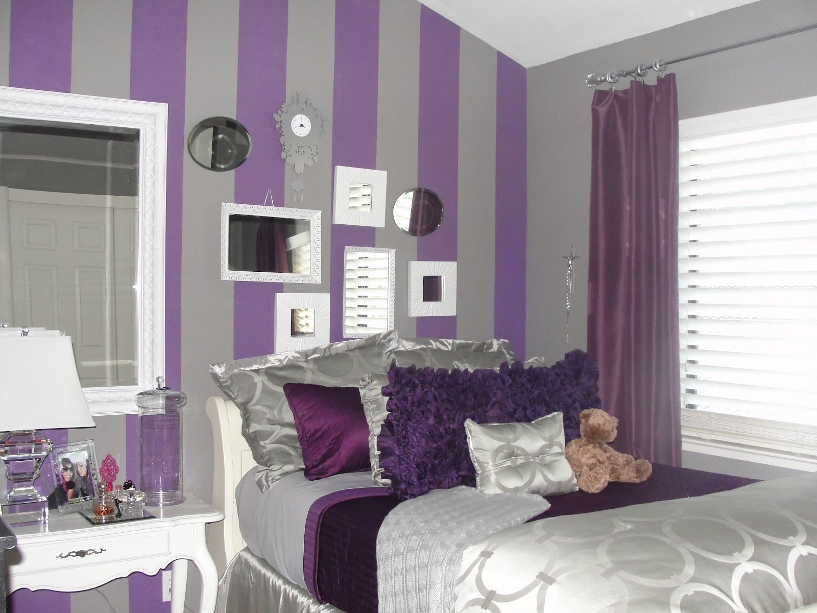 Bedroom Decorating Ideas Purple Walls teenage girl bedroom curtain ideas | design ideas 2017-2018
