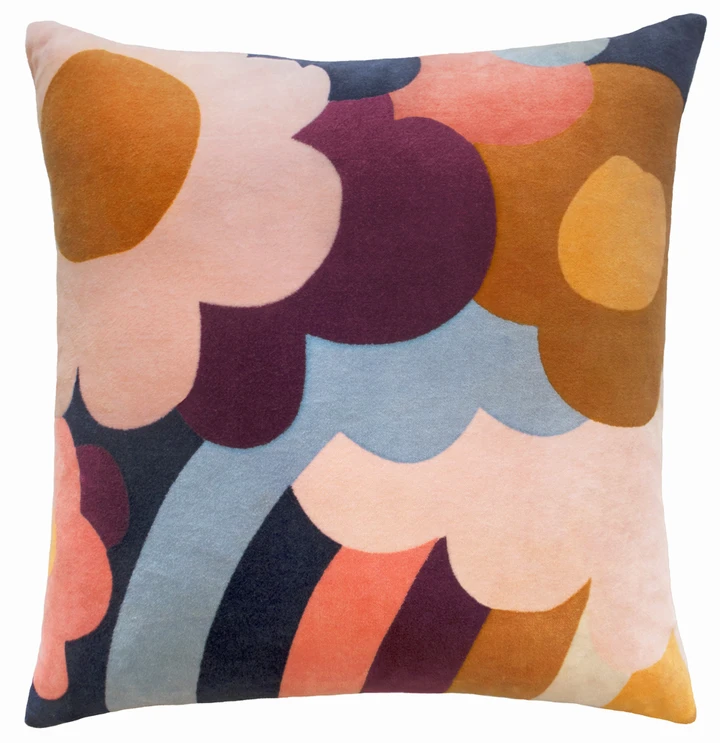 Jumble Garden Cushion Cover Garden Cushions Velvet Cushions Floral Pillowcase
