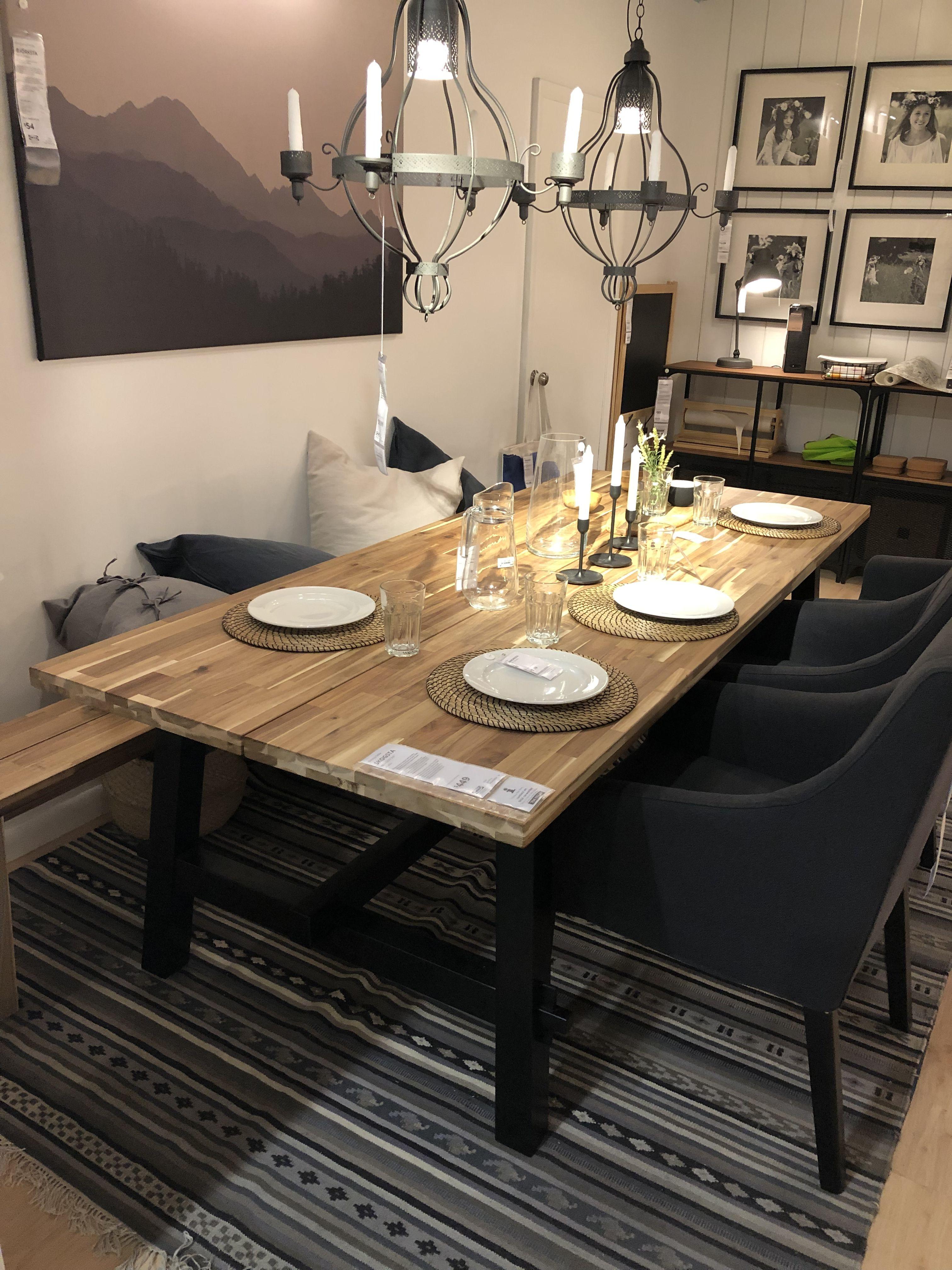 Skogsta Ikea Ikea Dining Ikea Dining Table Elegant Dining Room