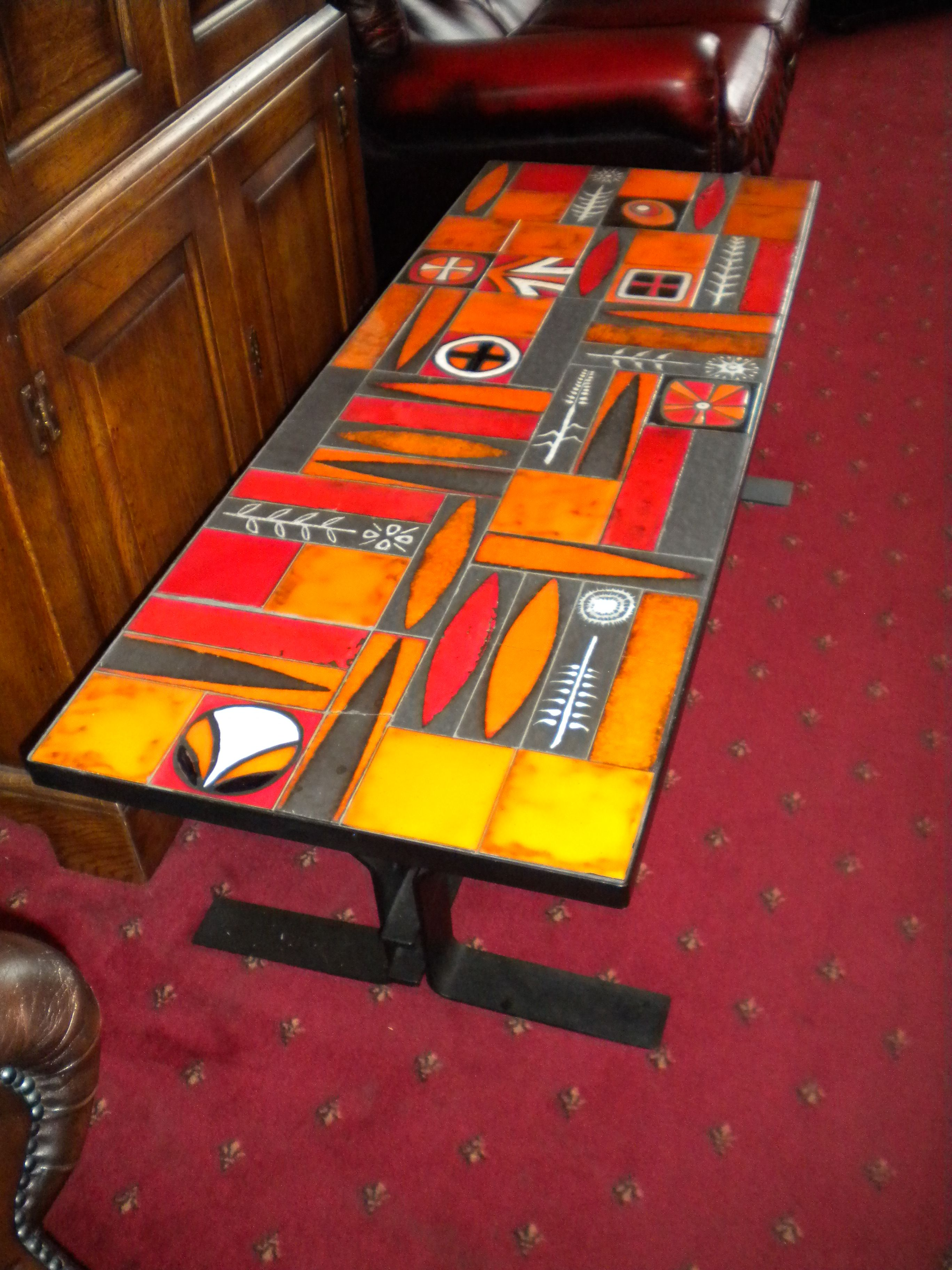 Vintageretro tiled coffee table those were the days pinterest vintageretro tiled coffee table geotapseo Choice Image