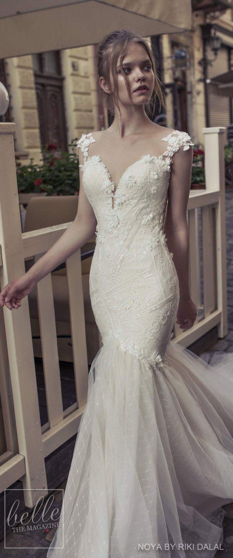 Mermaid ruffle wedding dress  Noya by Riki Dalal  in   MermaidRuffle Wedding Dresses