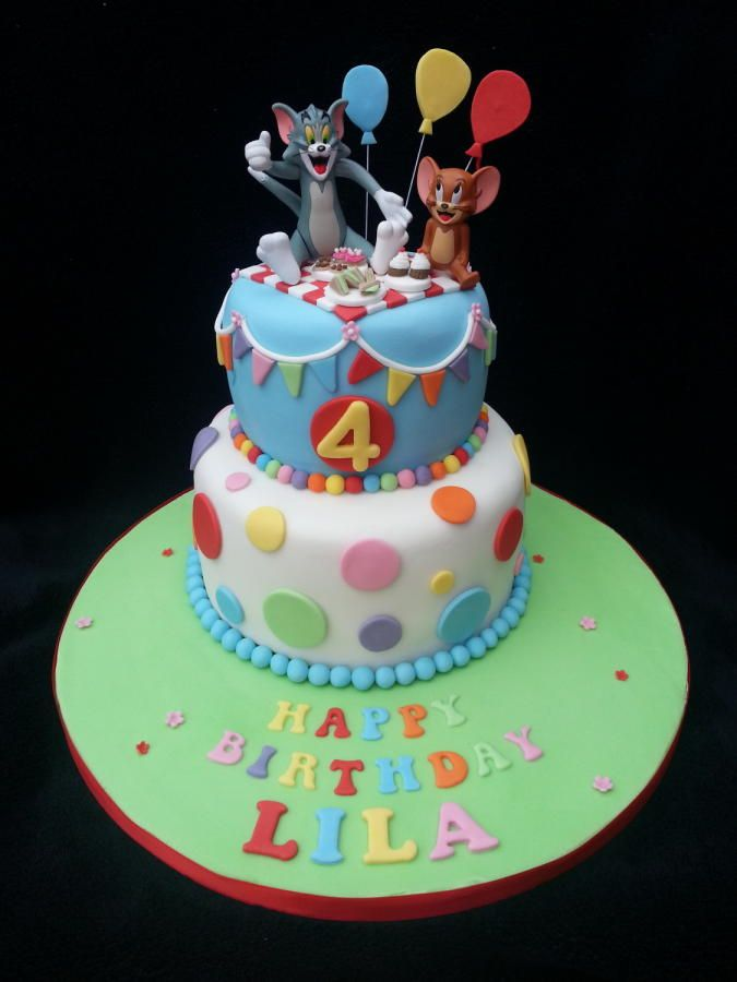 Tom And Jerry Themed Birthday Cake With Images Themed Birthday