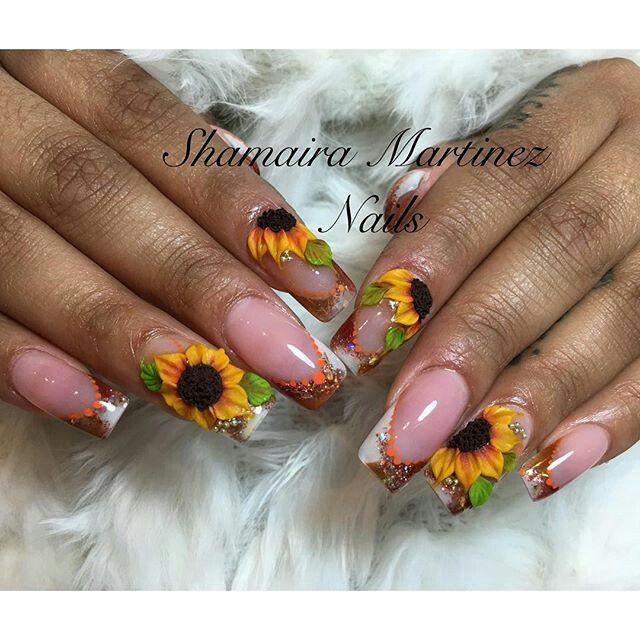 3d Acrylic Nails, 3d Nails Art, Pretty Nail Designs, Fall Nail Designs, Curved  Nails, Yellow Nails, Pattern Nails, Autumn Nails, Crepes - Pin By Adriana Mercado On Adry 3D Pinterest 3d Acrylic Nails