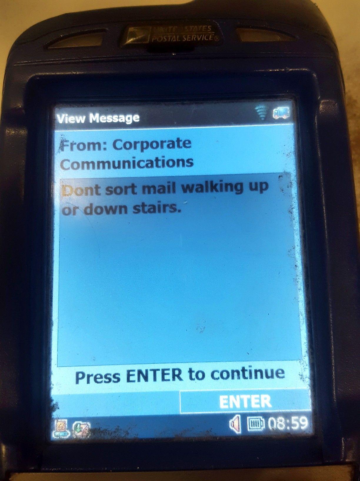 Duh! Thanks Corporate! gonepostal Us postal service