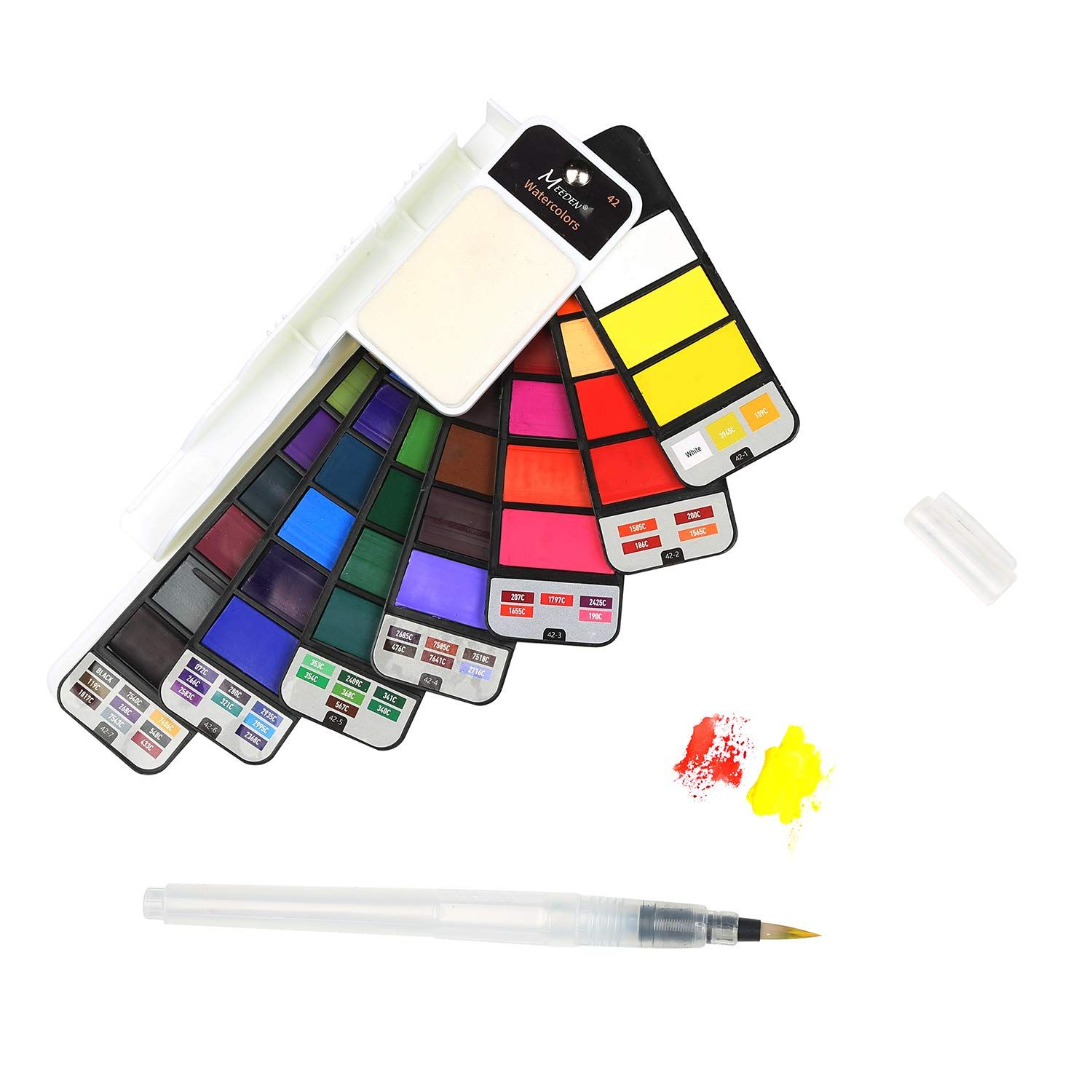 Meeden Watercolor Paint Set 42 Assorted Colors Professional