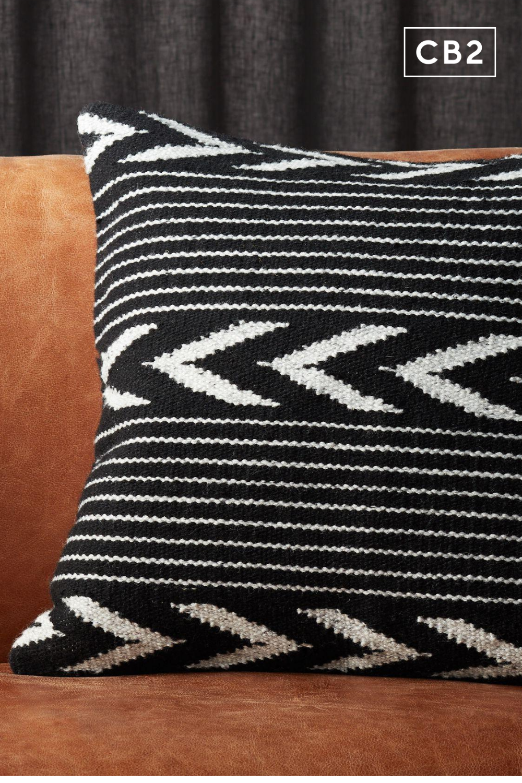 20 bowman black and white pillow cb2