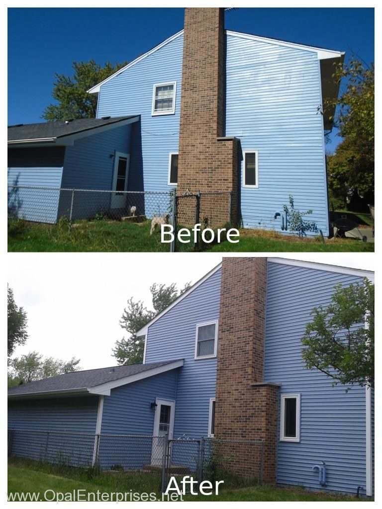 Before And After Siding Replacement With Alside Mystic Blue Vinyl Siding Blue Siding Blue Vinyl Siding Exterior House Renovation
