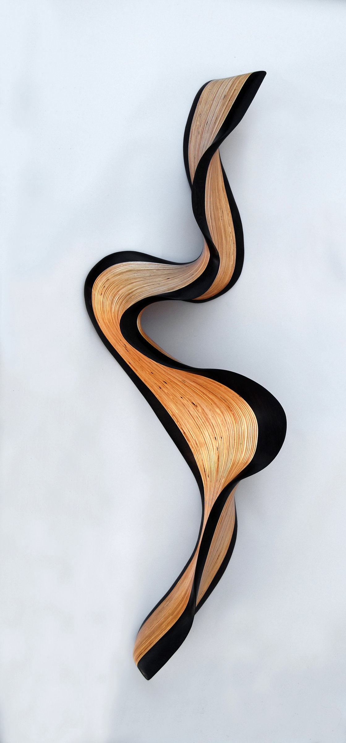 Artful Home Philadelphia Wenge Wave By Kerry Vesper Wood Wall Sculpture