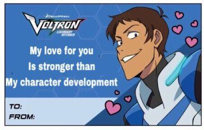 Lance Voltron Valentine S Day Card Voltron Voltron Klance Form