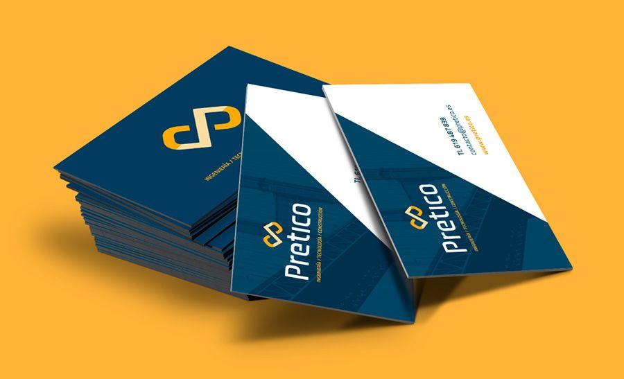 Diseño tarjetas visita Pretico  | BOMBO Estudio