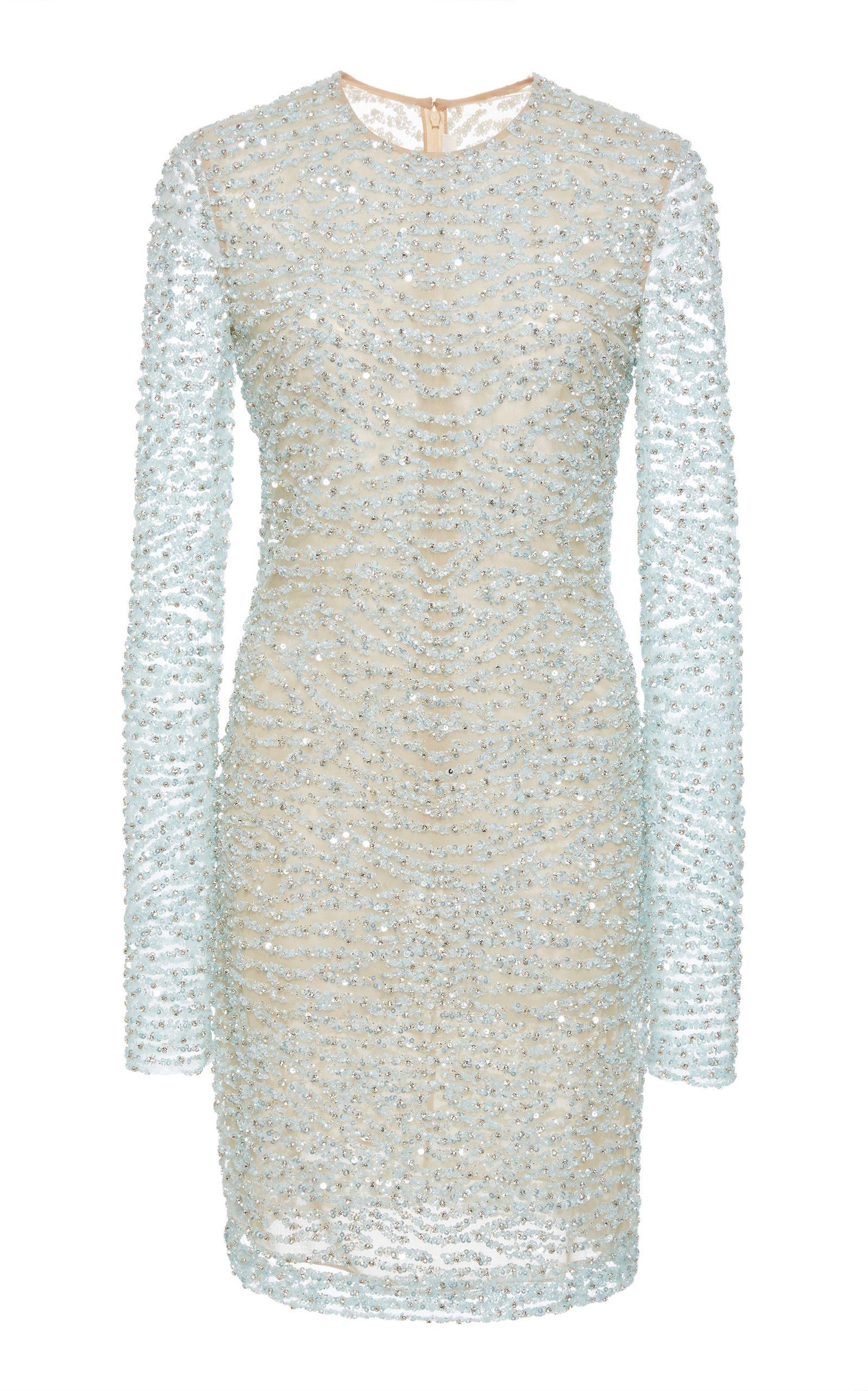 Beaded Mini Dress Naeem Khan Clearance Best Wholesale vIcXd