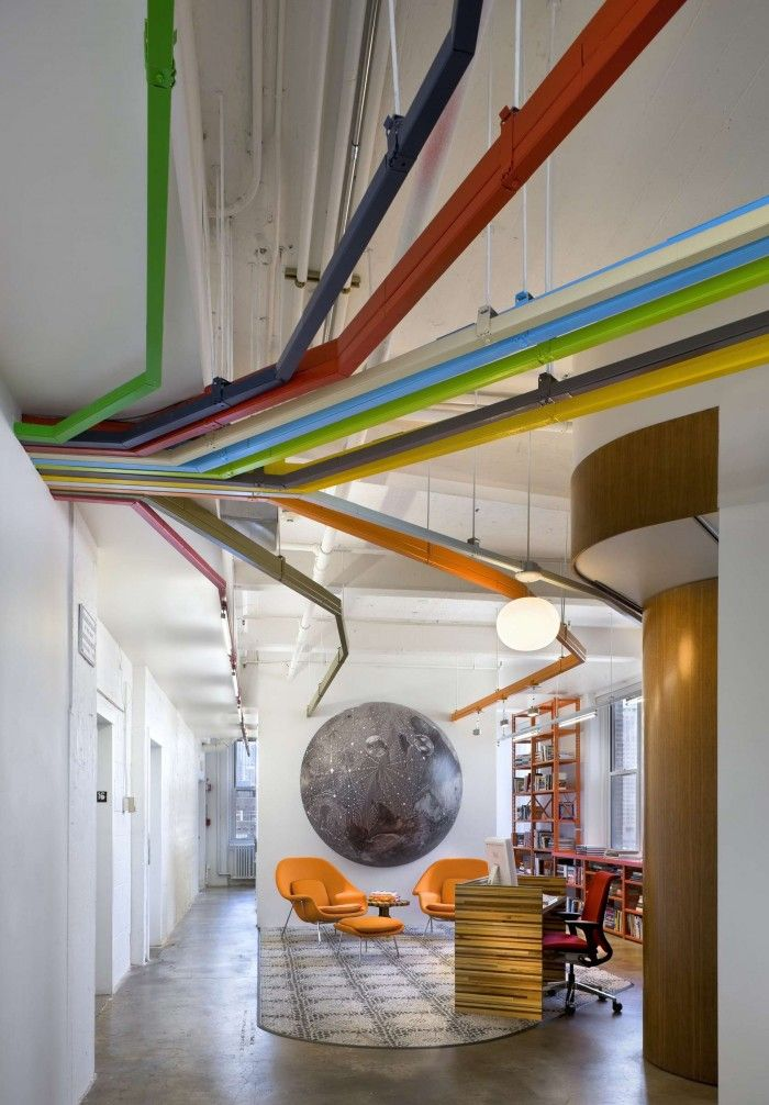 Delightful Exposed Conduit Color Coded To Different Design Departments? TED Conference  NYC