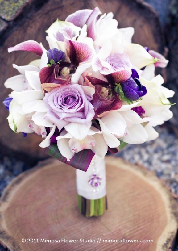 gorgeous purple and white orchids brides bouquet-1 | Purple Bouquets ...
