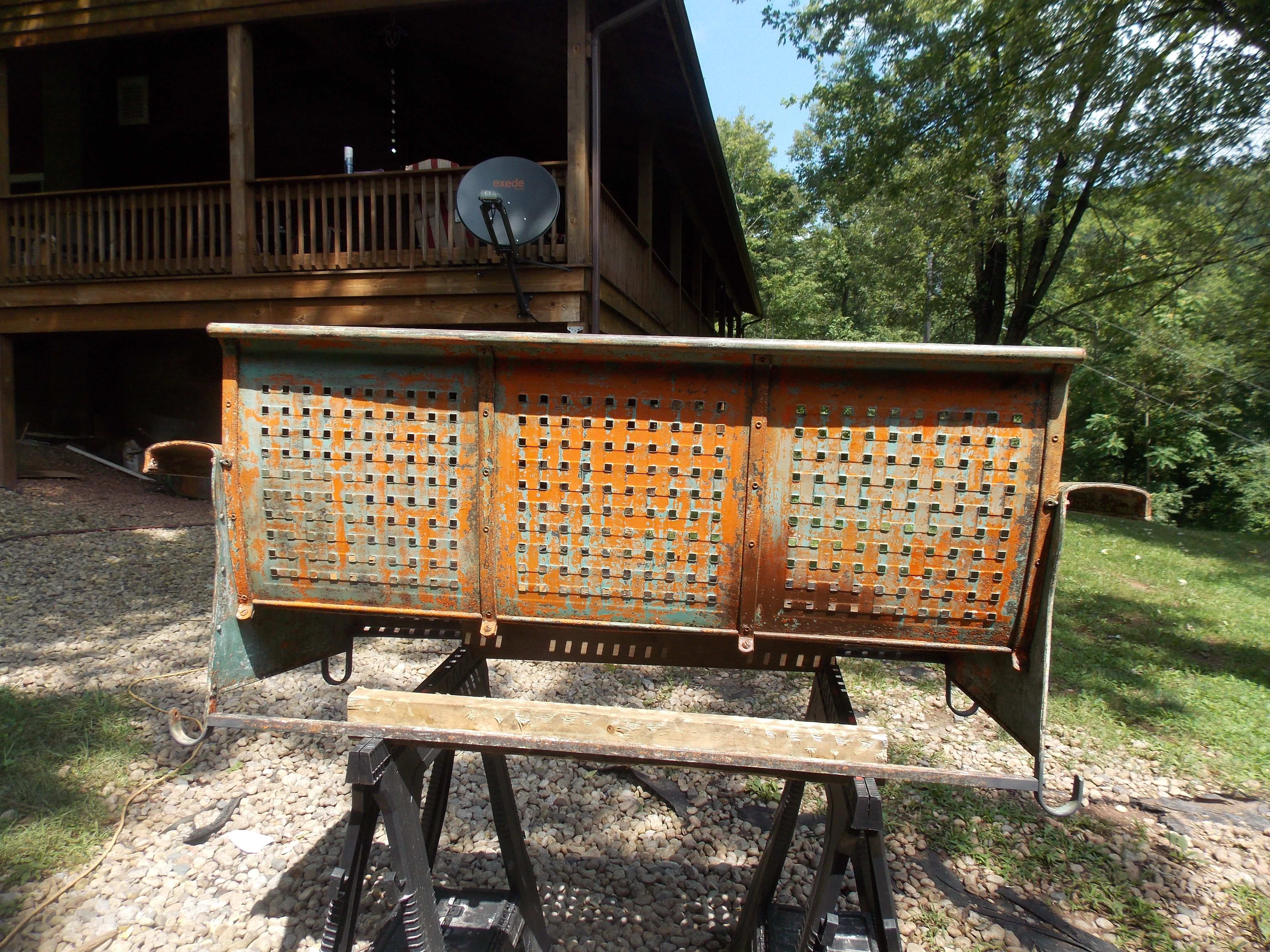 Metal Porch Glider - This glider made by Bunting Glider Co ...