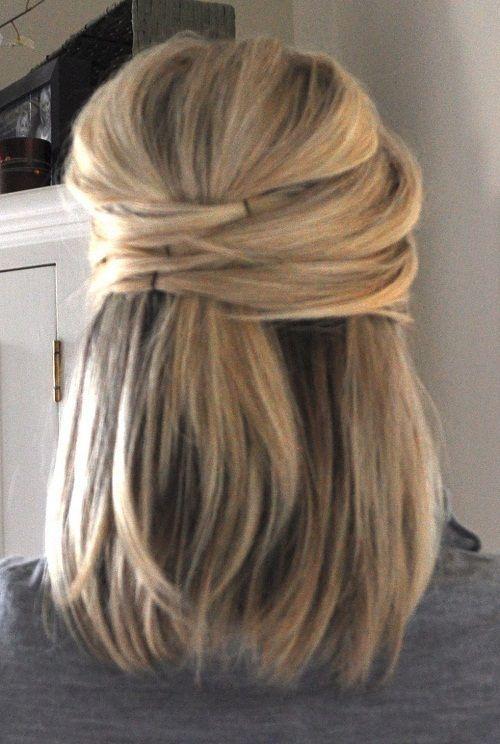 Cute Half Up Half Down Hairstyles For Short Hair New Hairstyles Haircuts Hair Color Ideas Hair Styles Hair Lengths Long Hair Styles