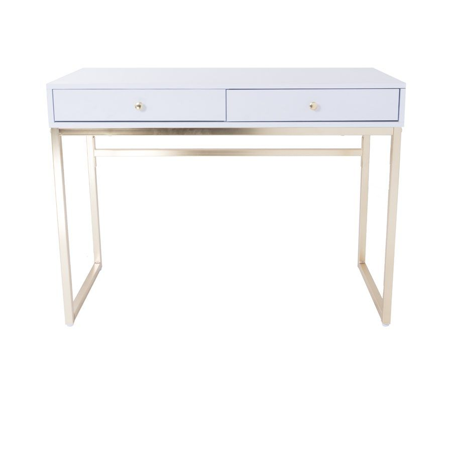 white and gold vanity table. Chloe White and Gold Vanity Table  tables Vanities